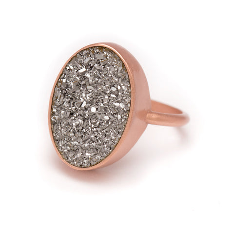 Kristine Lily Rose Gold Druzy Ring