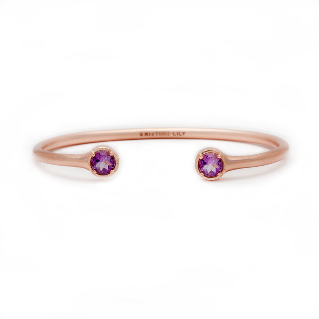 Cora Bangle in Amethyst by Kristine Lily