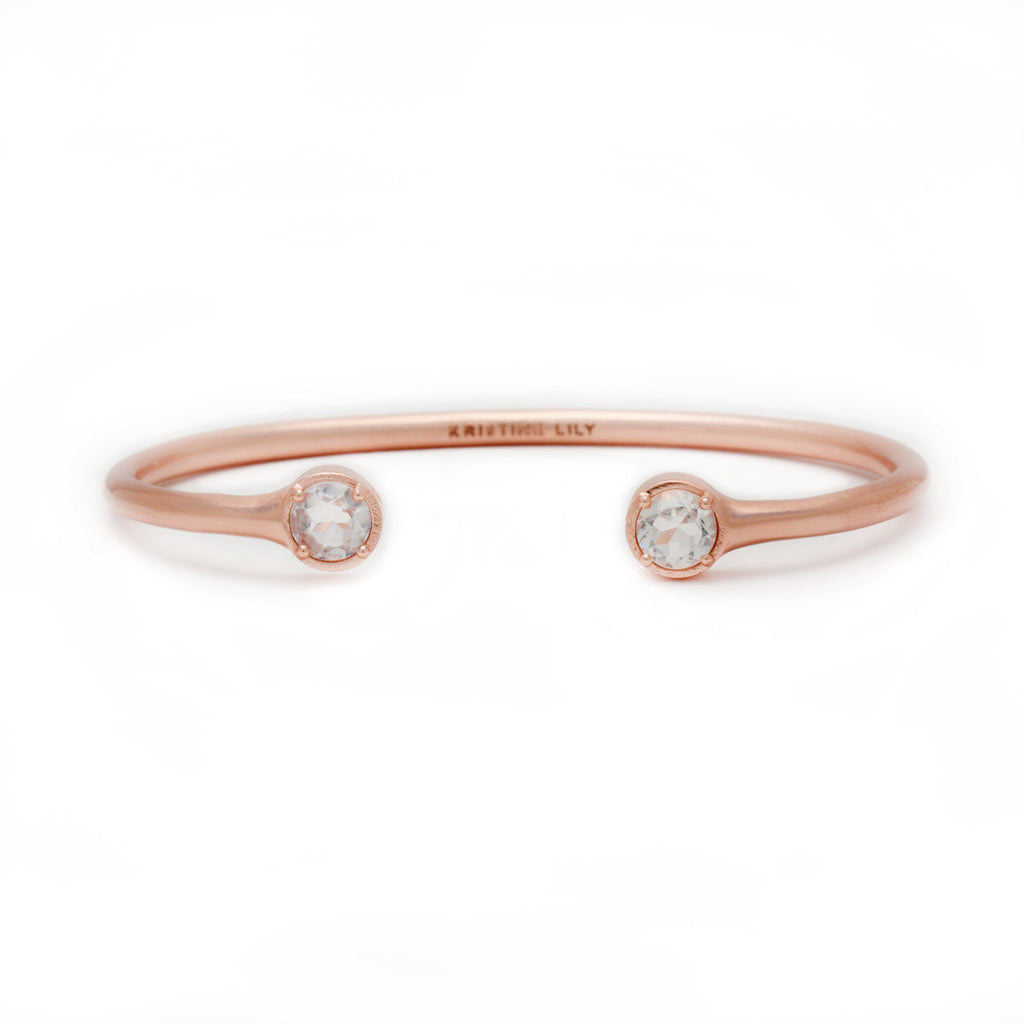 Rose Gold Cuff by Kristine Lily