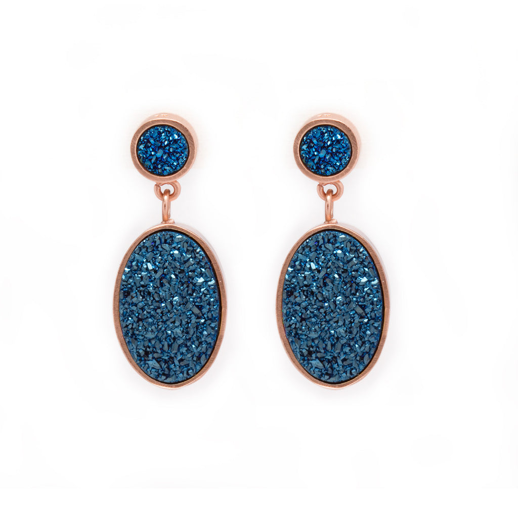 Druzy Dangle Drop Earrings