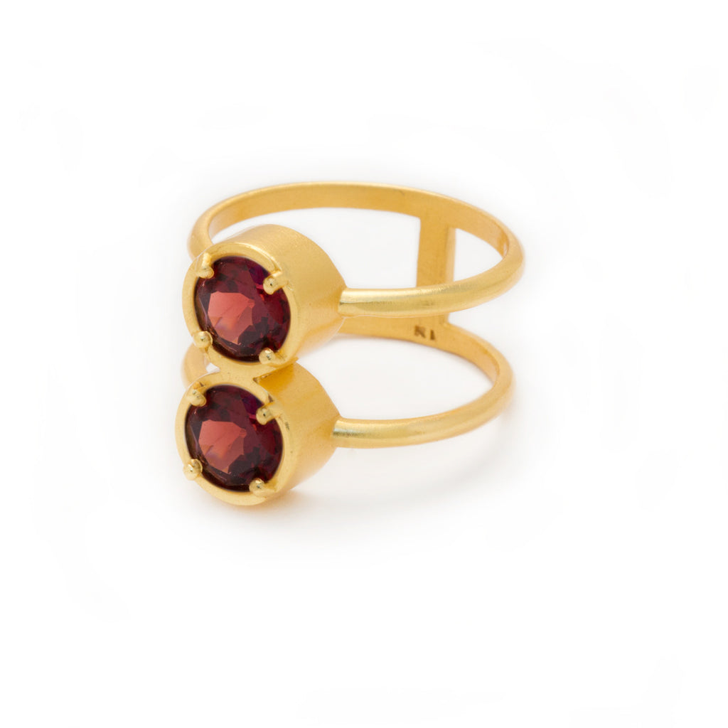 Garnet in Gold Ring - by Kristine Lily - jewelry
