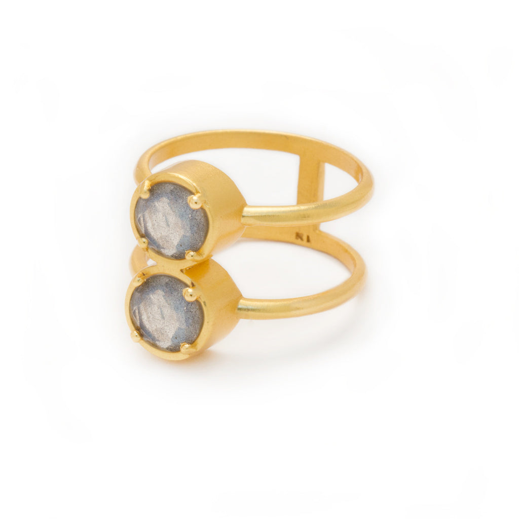 Labradorite in Gold Ring by Kristine Lily - Jewelry