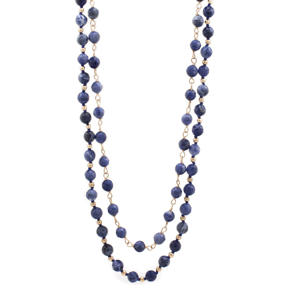 Sodalite Strand and Link Necklace