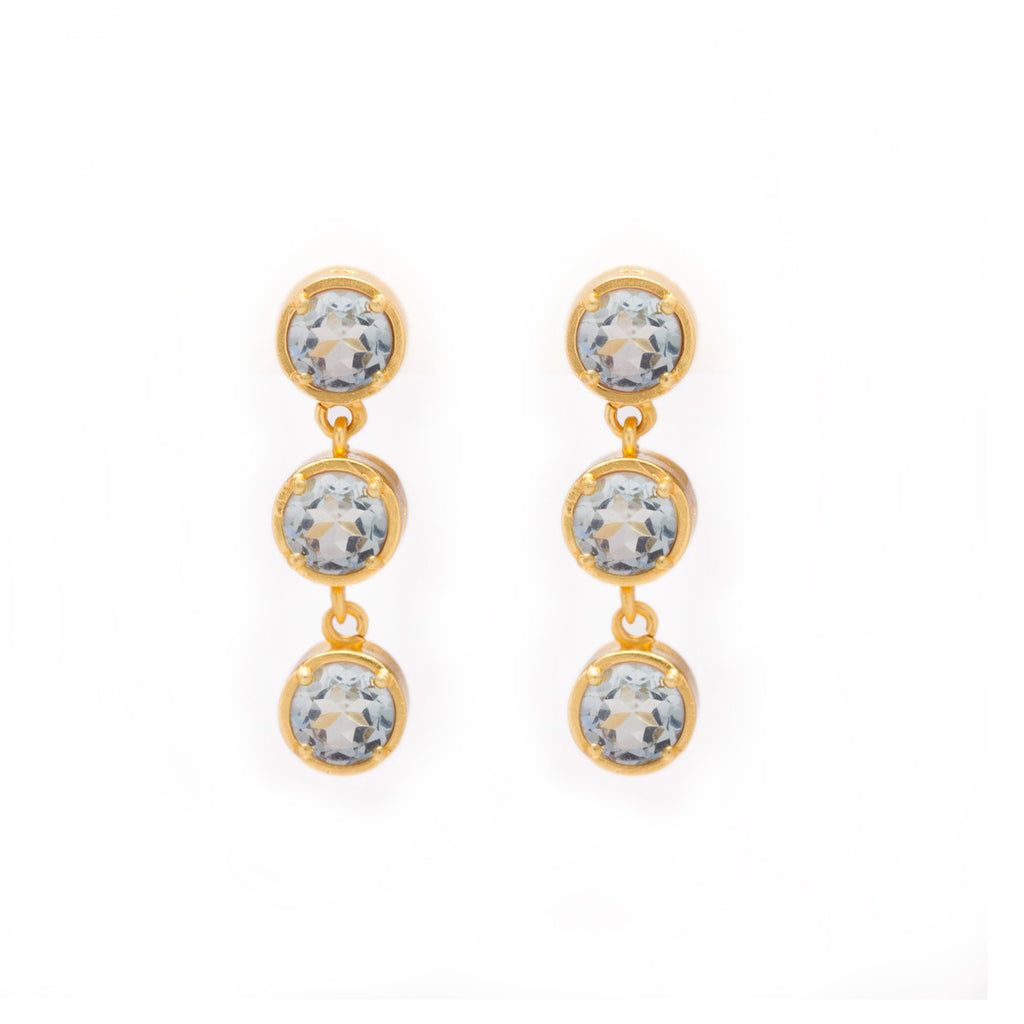 Kristine Lily Blue Topaz Drop Earrings
