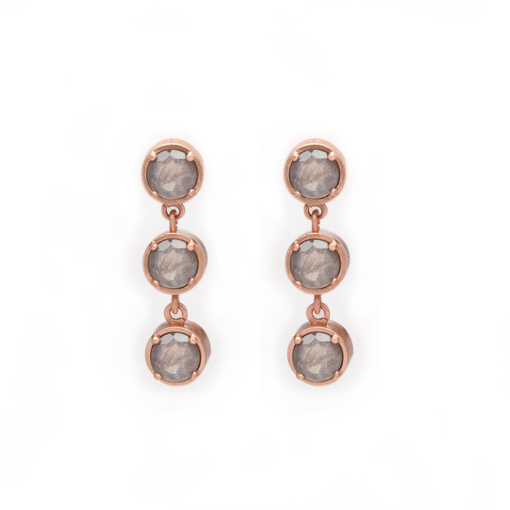 Labadorite in Rose Gold Drop Earrings - Jewelry