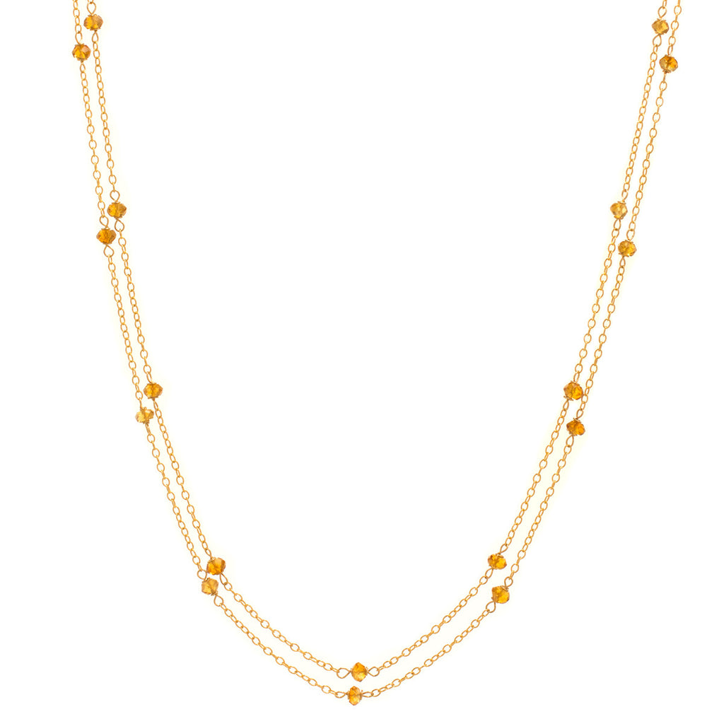 Citrine Chain Necklace