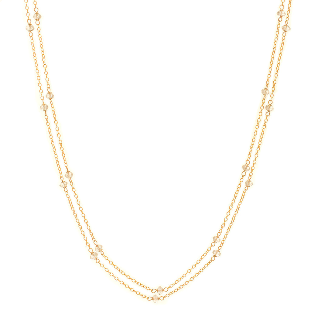 White Topaz Chain Necklace