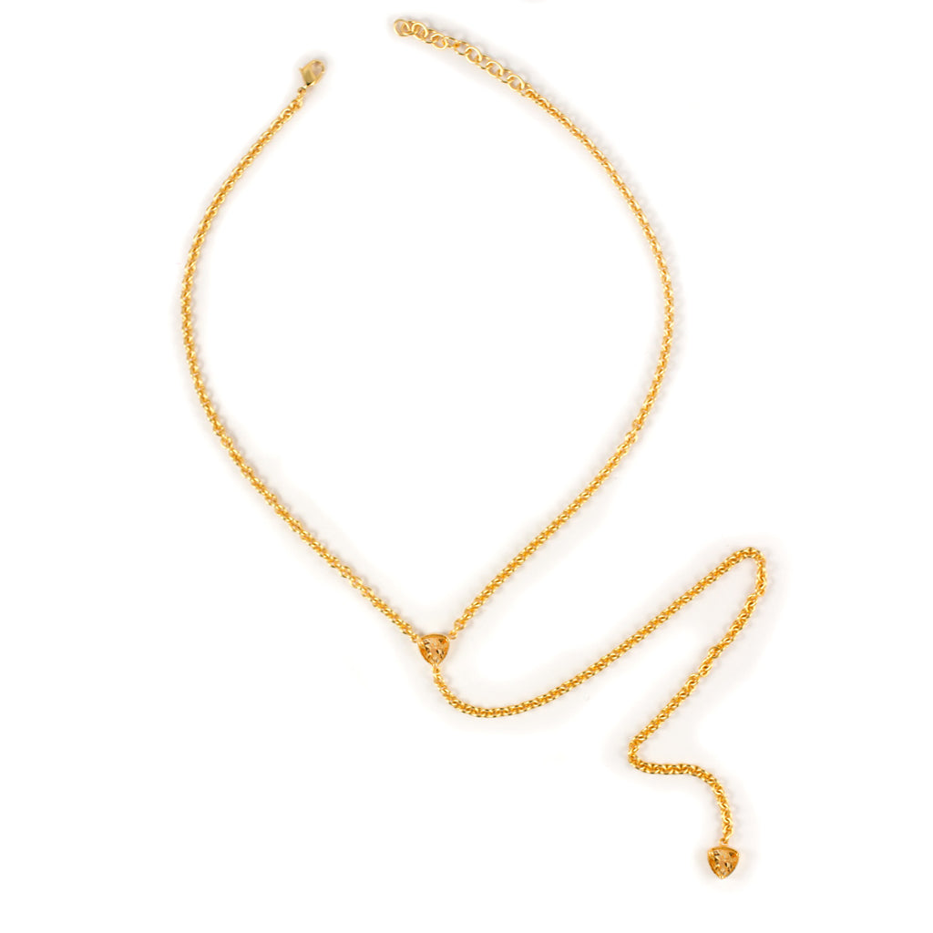 Kristine Lily Citrine Lariat Necklace
