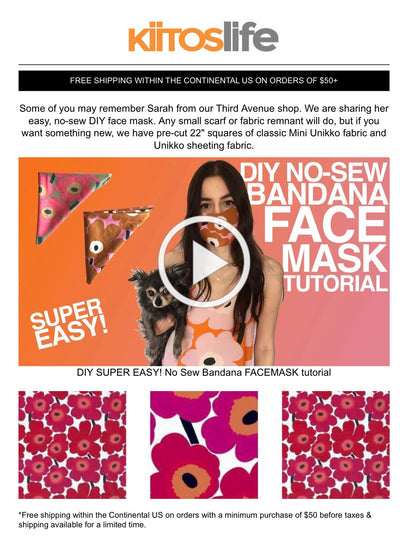DIY No-Sew Bandana Face Mask Tutorial