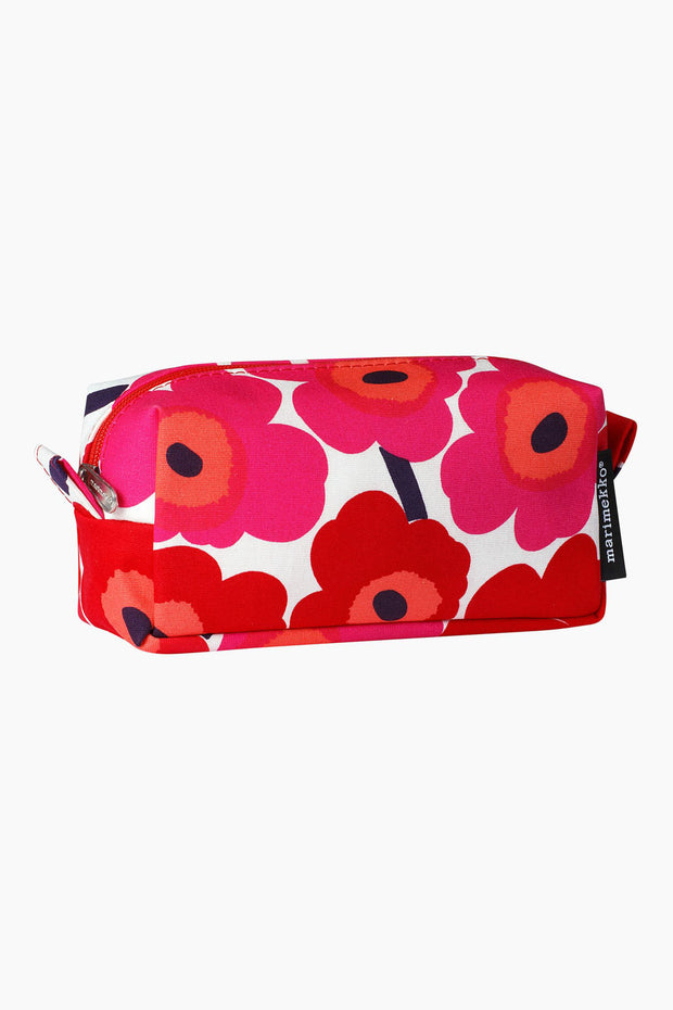 Marimekko Tiise Mini Unikko Cosmetic Bag Red/Cotton