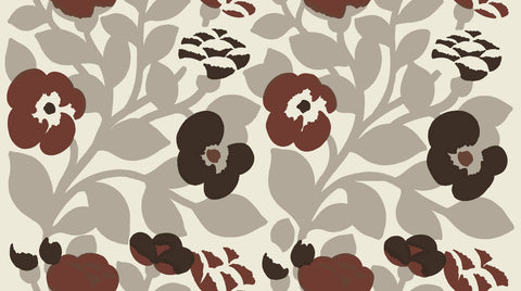 Marimekko Green Green Fabric Ecru/Brown