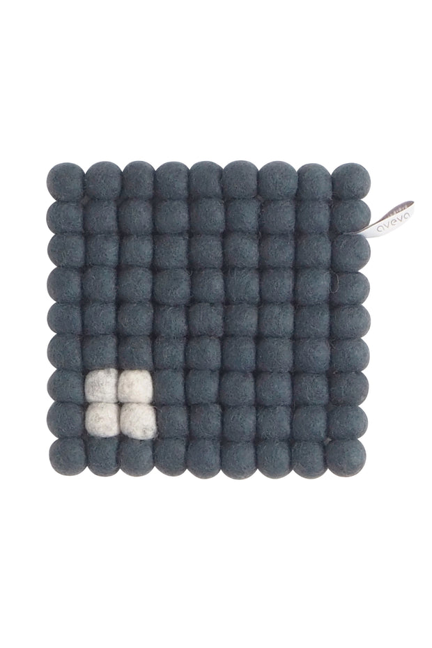 Aveva Wool Felt Square Trivet Dark Grey
