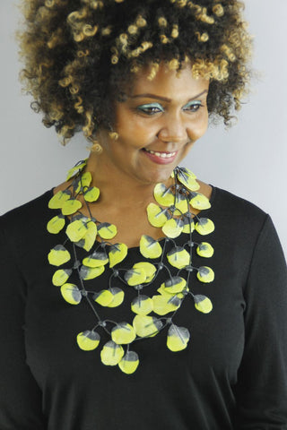 Annemieke Broenink Poppy Necklace Lime