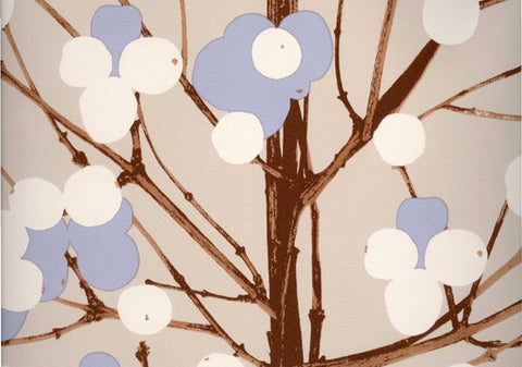 Marimekko  Lumimarja Wallpaper Natural/Blue/Brown/White