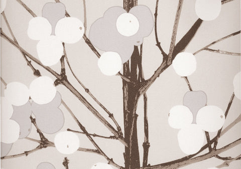 Marimekko  Lumimarja Wallpaper Grey/Silver/Brown