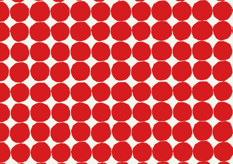 Marimekko  Pienet Kivet Wallpaper Red/White