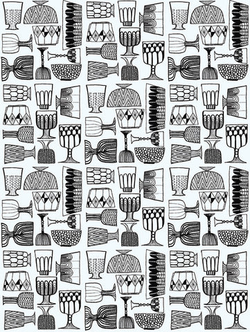 Marimekko  Kippis Wallpaper Black/White