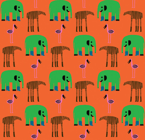 Marimekko Marimekko  Karkulaiset Wallpaper Orange/Green - KIITOSlife - 1