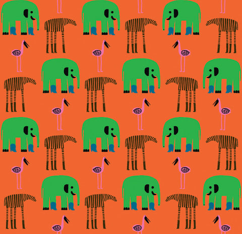 Marimekko  Karkulaiset Wallpaper Orange/Green