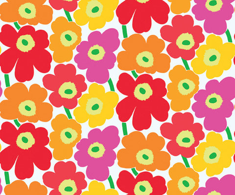 Marimekko  Pieni Unikko II Wallpaper Pink/Orange