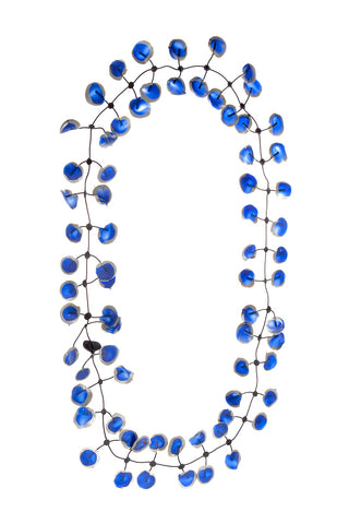 Annemieke Broenink Poppy Necklace Winter Cobalt Blue