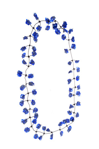 Annemieke Broenink Lace Necklace Winter Cobalt Blue