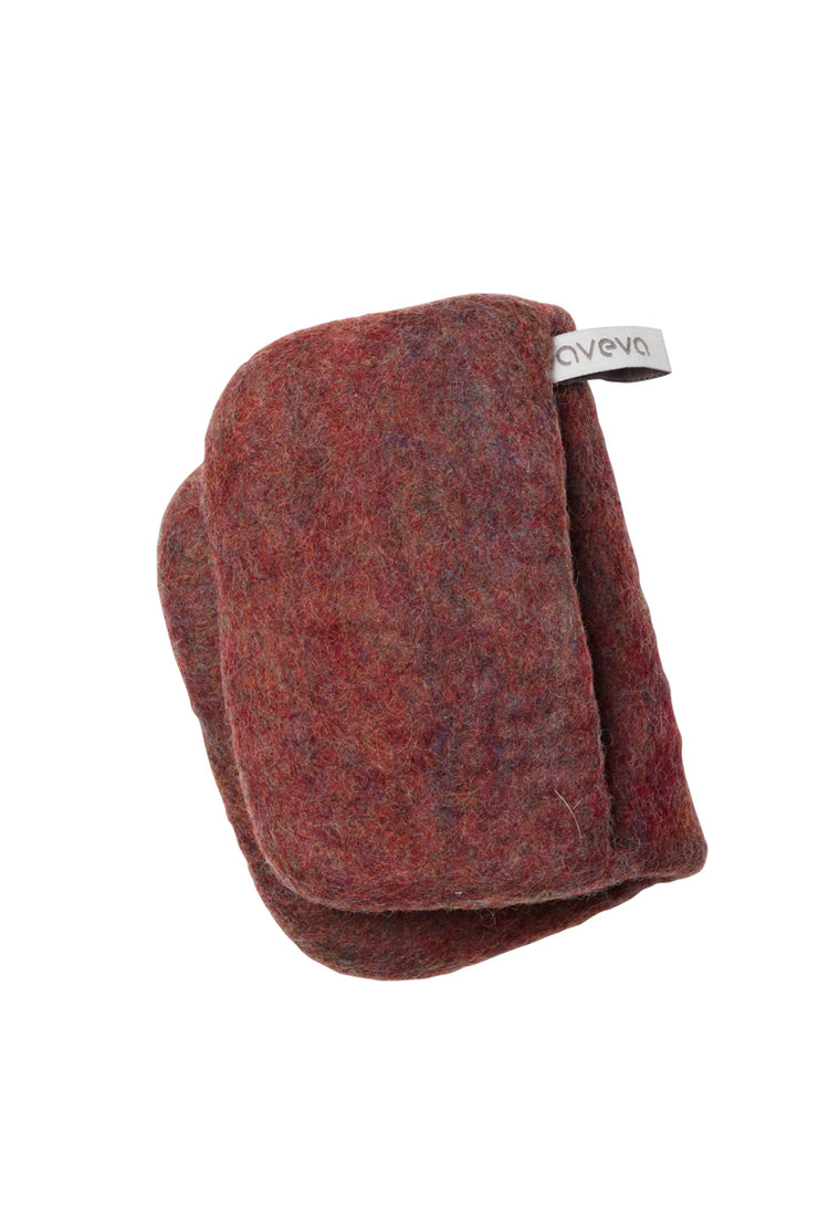 Aveva Wool Felt Potholder Berry