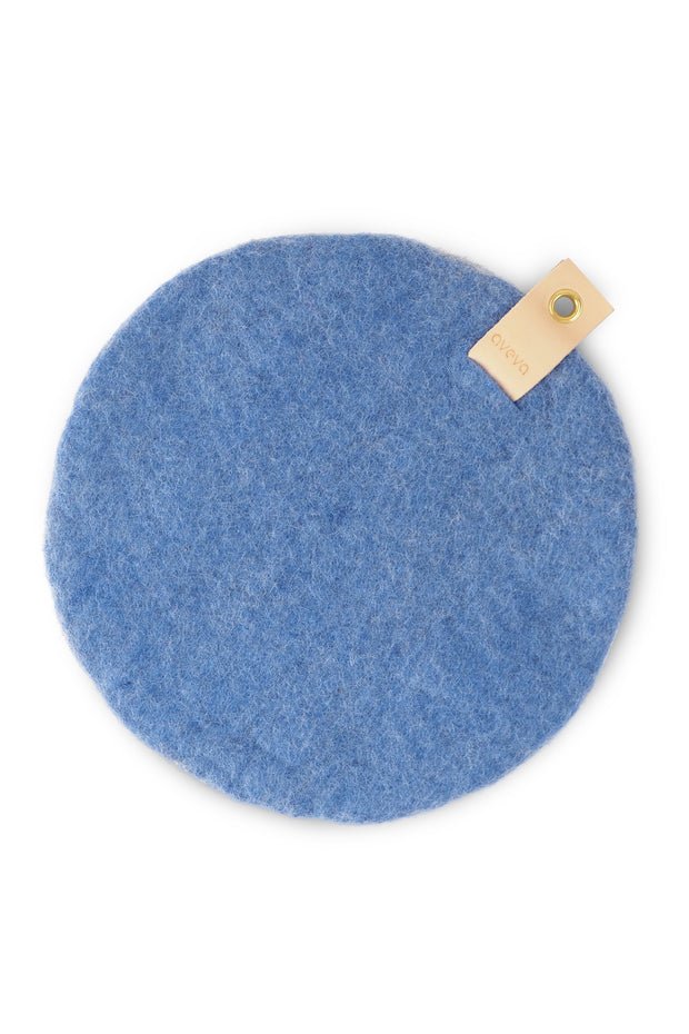 Aveva Wool Felt Seat Cushion Blue