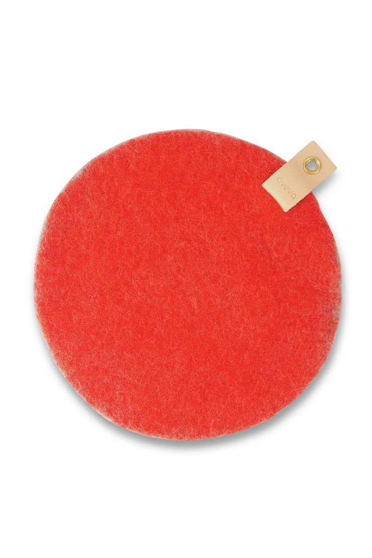 Aveva Wool Felt Seat Cushion Coral