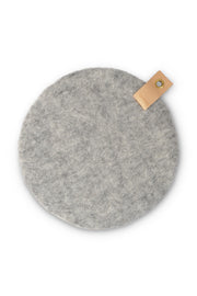 Aveva Wool Felt Seat Cushion Raw Grey