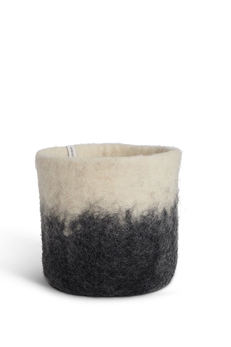 Aveva Felt Flower Pot/Basket 18 Medium Dark Grey