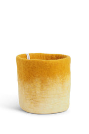 Aveva Felt Flower Pot/Basket 18 Medium Mustard