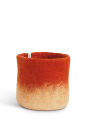 Aveva Felt Flower Pot/Basket 18 Medium Rust