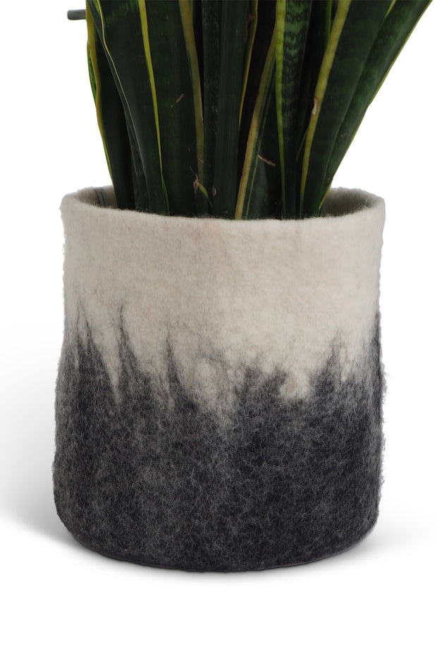 Aveva Felt Flower Pot/Basket 18 Large Dark Grey