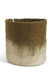 Aveva Felt Flower Pot/Basket 18 Large Olive
