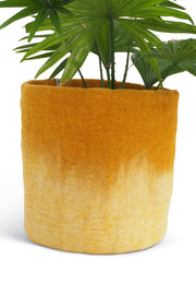 Aveva Felt Flower Pot/Basket 18 Large Mustard