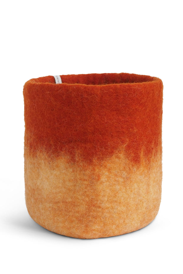 Aveva Felt Flower Pot/Basket 18 Large Rust