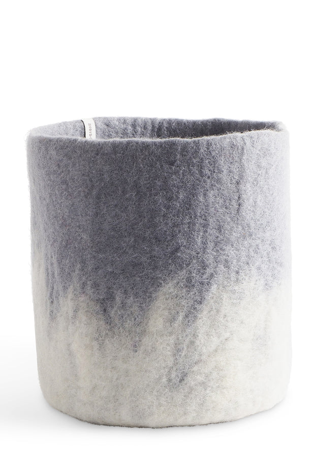 Aveva Felt Flower Pot/Basket 18 Large Concrete