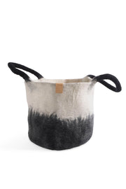 Aveva Wool Felt Basket Black/White