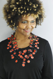 Annemieke Broenink Annemieke Broenink Dubbel Pop Dot Necklace Red - KIITOSlife - 2