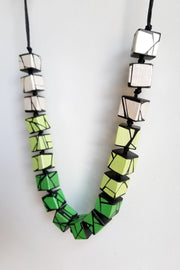 HUE + WOOD SHADES OF GREEN NECKLACE