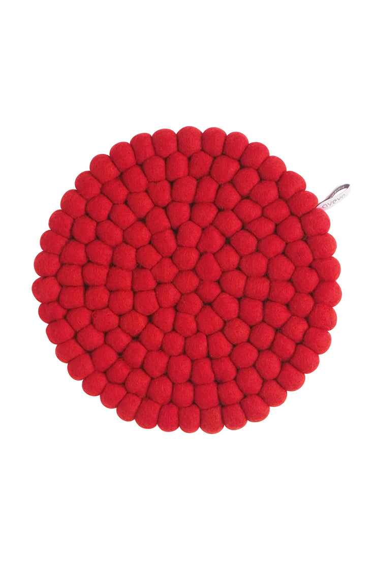 Aveva Wool Felt Trivet Large Red