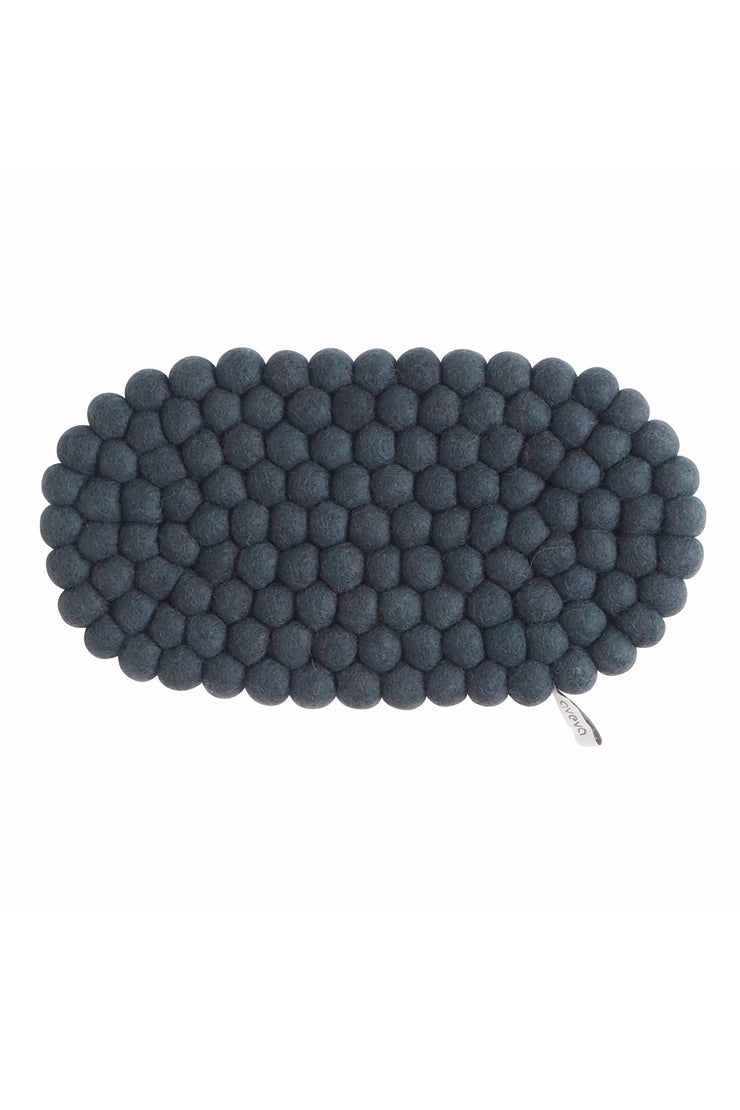 Aveva Wool Felt Oval Trivet Dark Grey