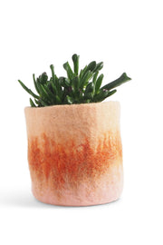 Aveva Felt Flower Pot/Basket 18 Medium Terracotta
