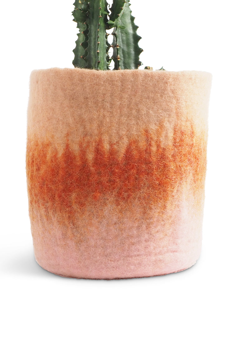 Aveva Felt Flower Pot/Basket 18 Large Terracotta