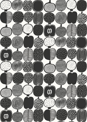 Marimekko  Kompotti Wallpaper Black/White