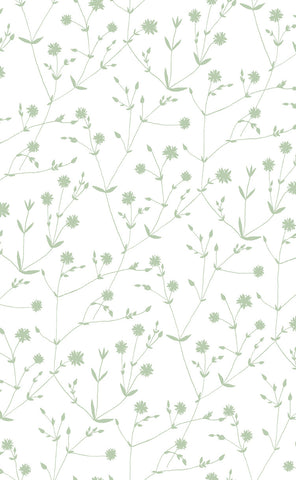 Marimekko  Illalla Wallpaper Cream/Mint Green