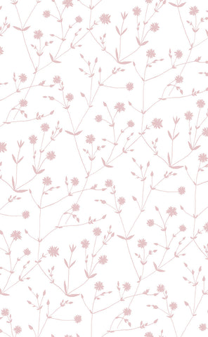 Marimekko  Illalla Wallpaper Cream/Dusty Rose
