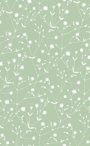 Marimekko  Illalla Wallpaper Mint Green/Cream
