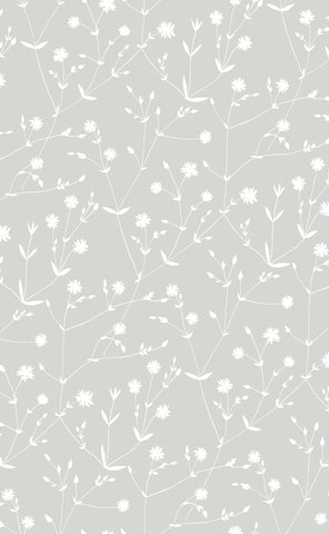 Marimekko  Illalla Wallpaper Cloud Grey/Cream